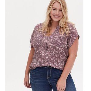 TORRID Purple floral blouse